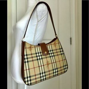 Euc Burberry vintage haymarket shoulder bag